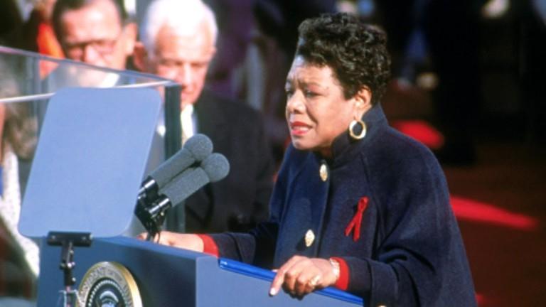 Maya Angelou courtesy of the NYPL