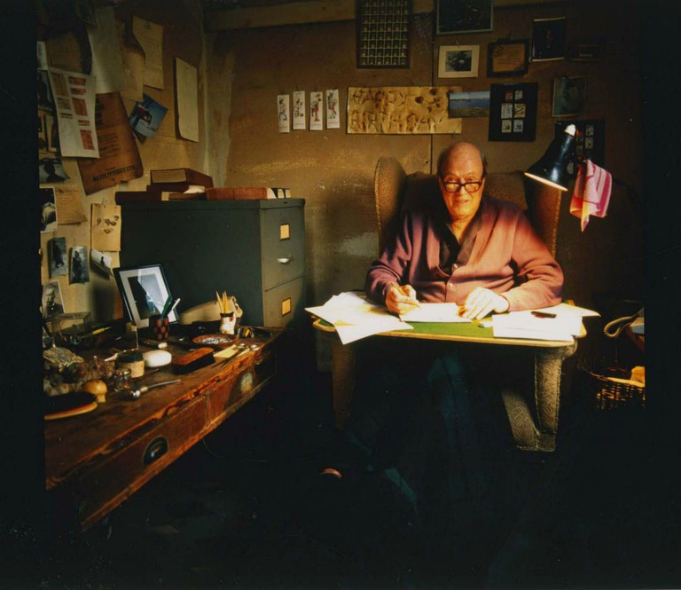 Roald Dahl In His Writing Hut   © Jan Baldwin