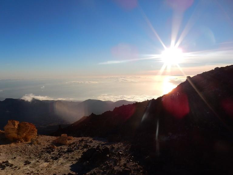 Sunset from Mount Teide © Kirsten Henton