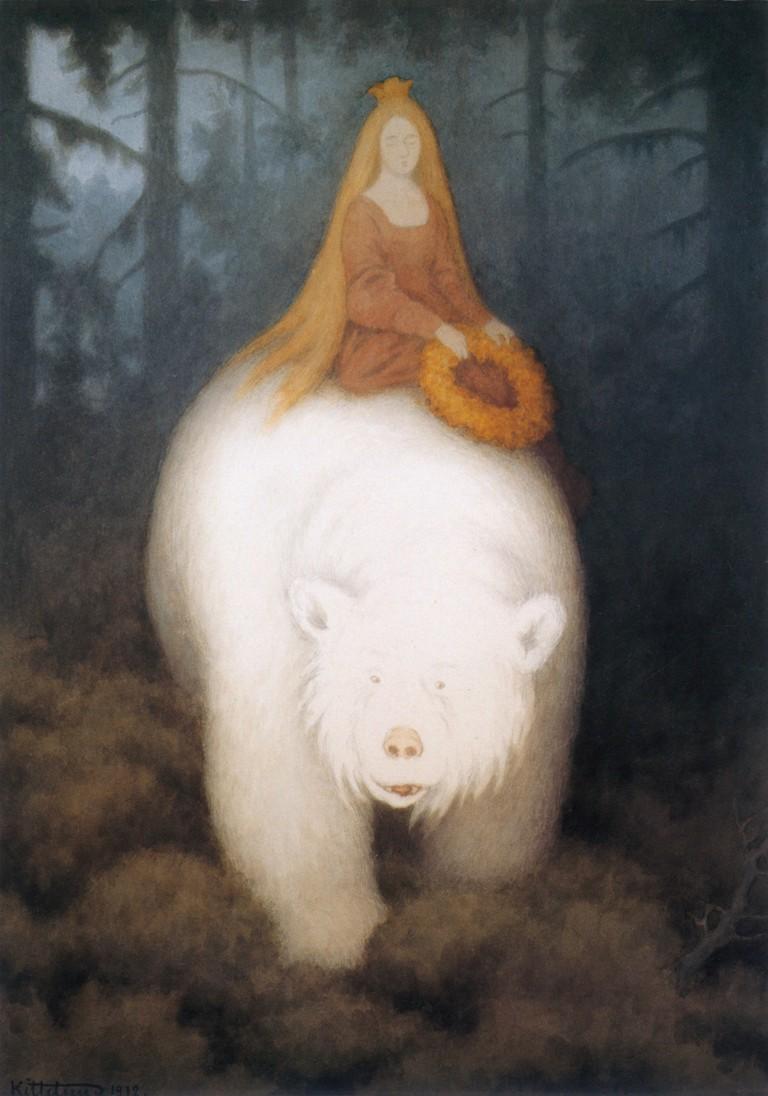 Theodor Kittelsen Kvitebjørn Kong Valemon