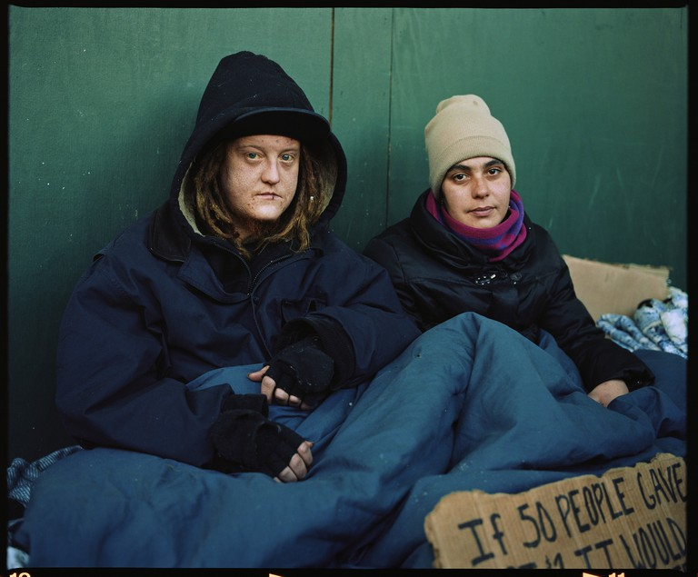 Ryan and Shelly McMahon, Residents of New York series | © Andres Serrano/Courtesy of the Royal Museum of Fine Arts of Belgium