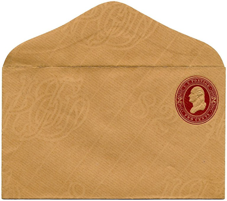 Watermarked envelop from the USA | Public Domain / WikiCommons