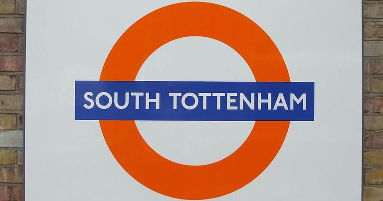 South Tottenham Station Roundel | Sunil060902/WikiComms