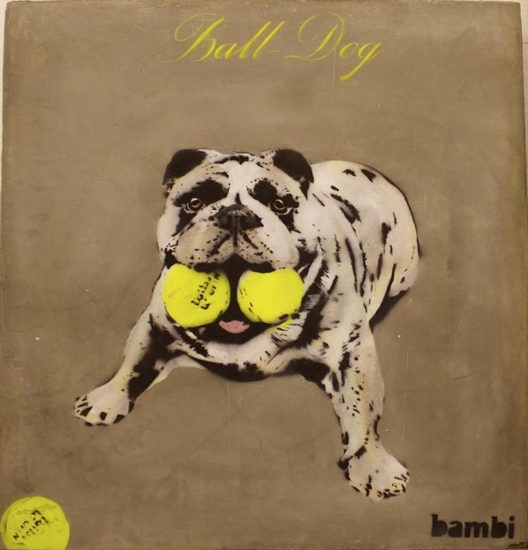 Ball Dog   © Bambi Street Artist/Facebook