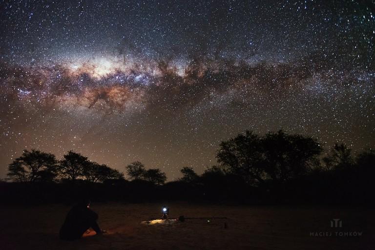 Dqae Qare San Lodge in Botswana | Courtesy of Maciej Tomkow