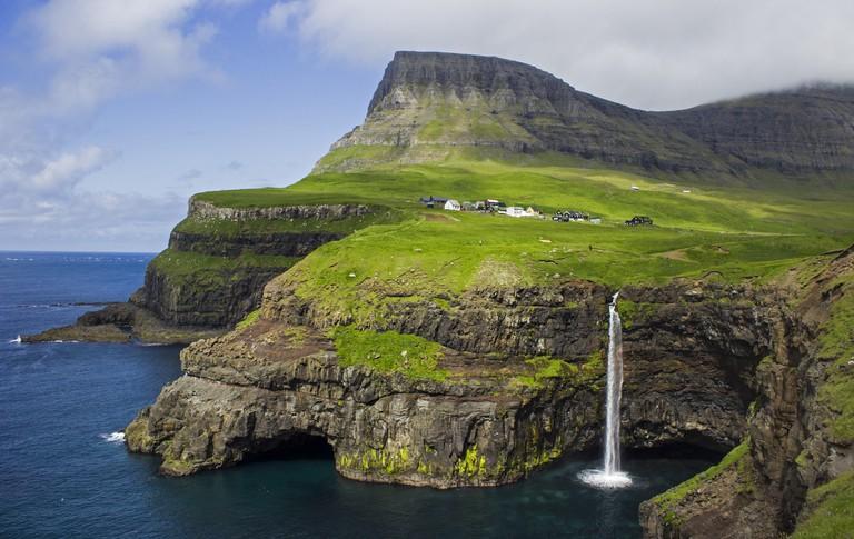 The village Gásadalur on Vágar, Faroe Islands | © Stefan Wisselink/Flickr