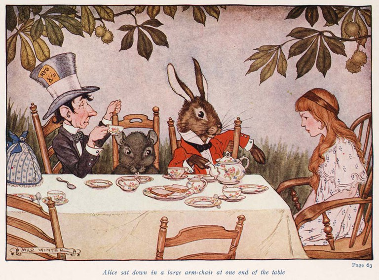 Alice in Wonderland (Illustrator: Winter, 1924) Mad Tea Party | © Special Collections Toronto Public Library / Flickr