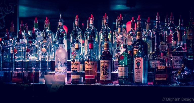 Top Shelf Beer/Liquor from Bar   © Ted Bigham/Flickr