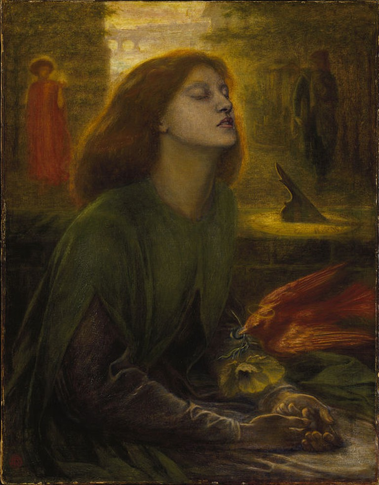 Rossetti, Beata Beatrix, Support: 864 x 660 mm, Frame: 1212 x 1015 x 104 mm, Tate Britain, c. 1864-70 | © Dmitry Rozhkov/WikiCommons