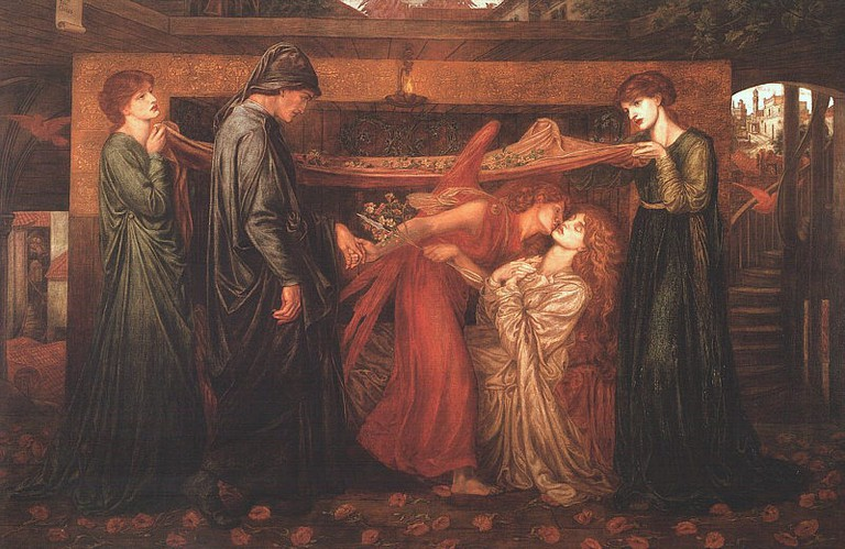Rossetti, Dante's Dream, Canvas/support: 216 x 312.4 cm, Frame 263 x 363.2 x 12 cm, Walker Art Gallery, 1871 | © Viejo sabio/WikiCommons