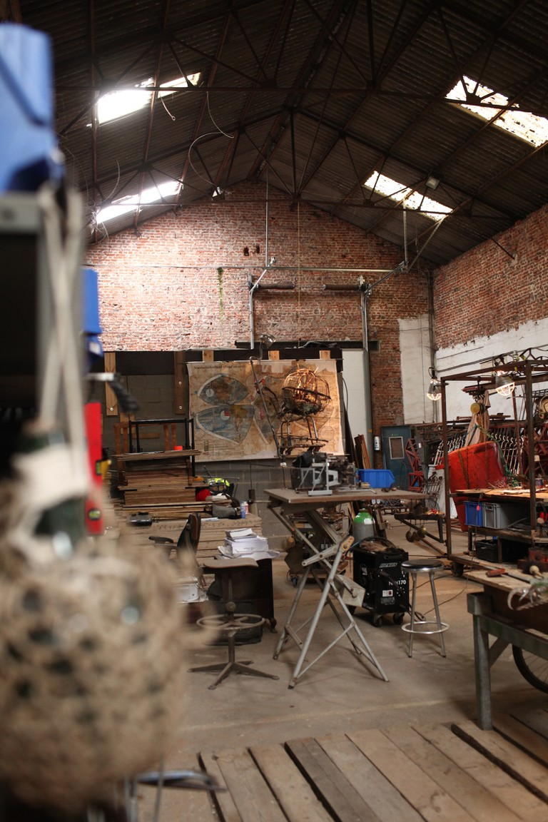Barn-atelier of Bart Dewolf/Courtesy Anuschka Theunissen