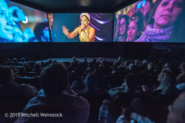2015 screening at Barco's multi-screen panoramic format at Camera 12 | Courtesy of Cinequest