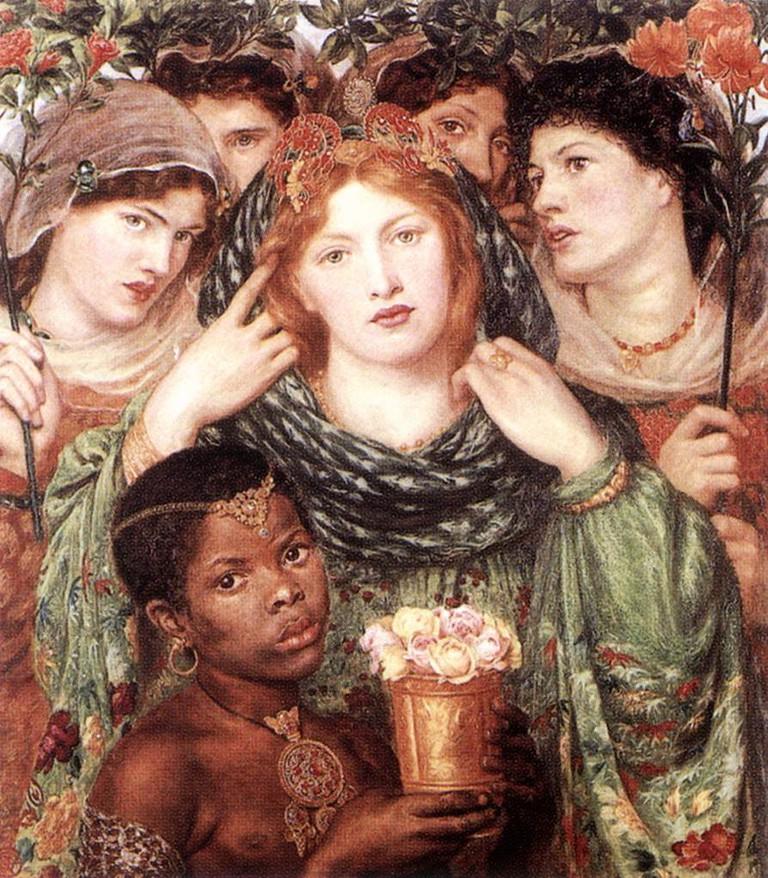 Rossetti, The Beloved, Support: 825 x 762 mm, Frame: 1220 x 1110 x 83 mm, Tate Britain, 1865-66 | © JarektUploadBot/WikiCommons