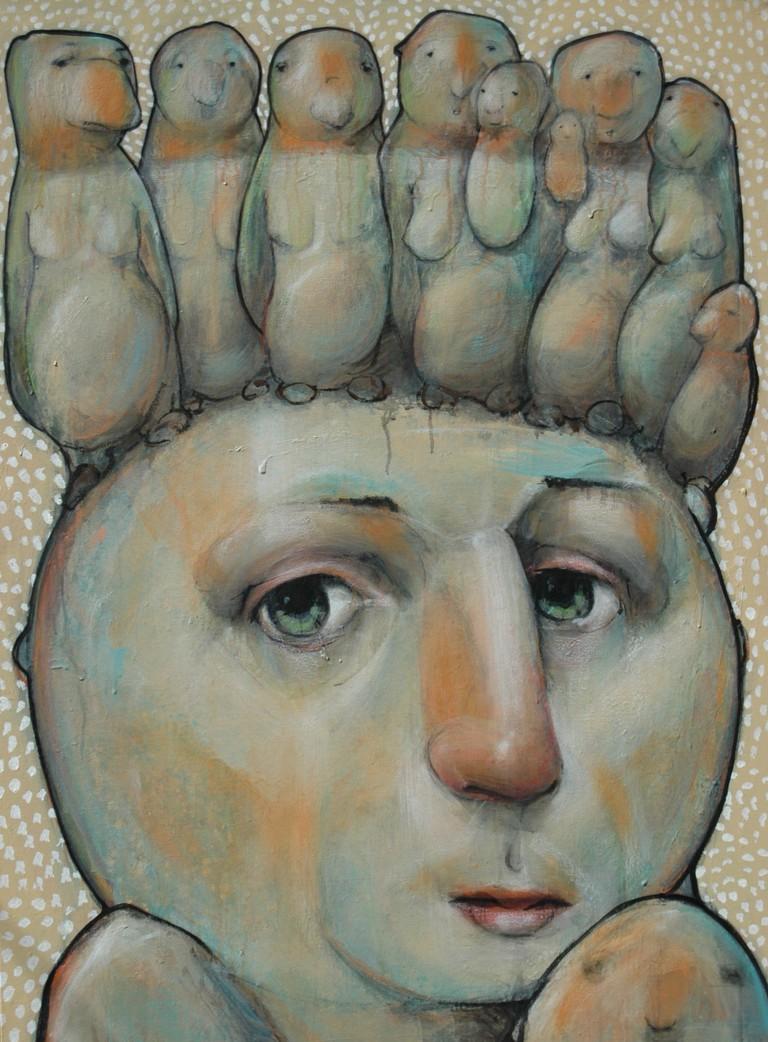 'Ancestor', 2016, Acrylic on Canvas, 48x36 | Courtesy of Patrick Palmer