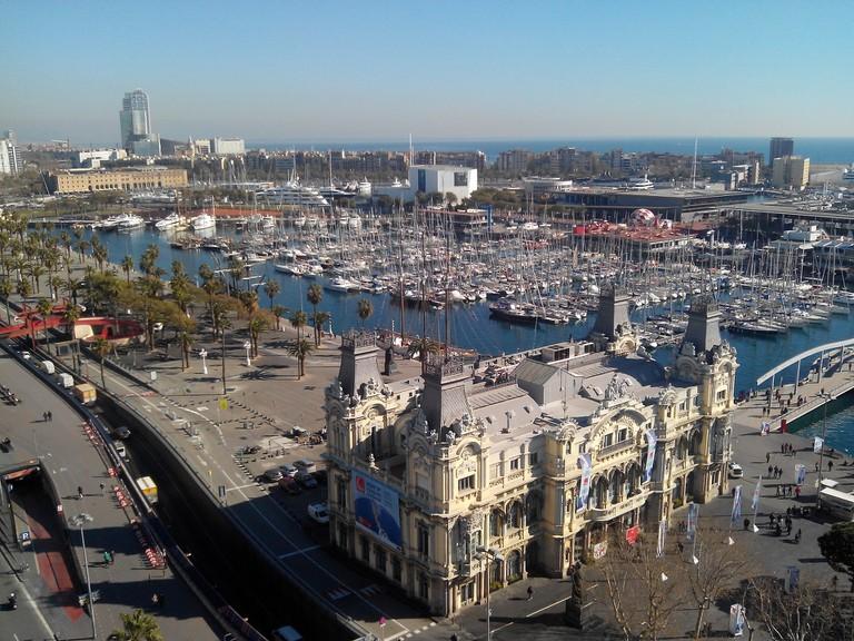 View over Barcelona's harbor   © jribes/Pixabay