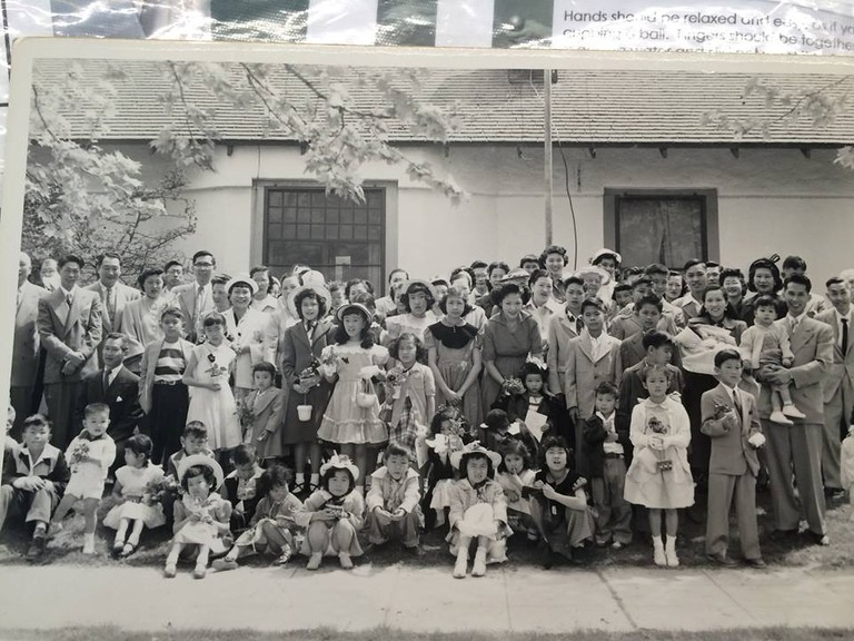 The First Chinese Baptist Church in Fresno at Easter in 1952 | Courtesy of Amy Tan
