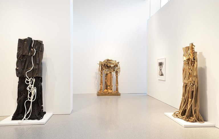 Barbara Chase-Riboud: One Million Kilometers of Silk at Michael Rosenfeld Gallery, New York, NY, October 31, 2014 – January 10, 2015. Photograph by Joshua Nefsky.