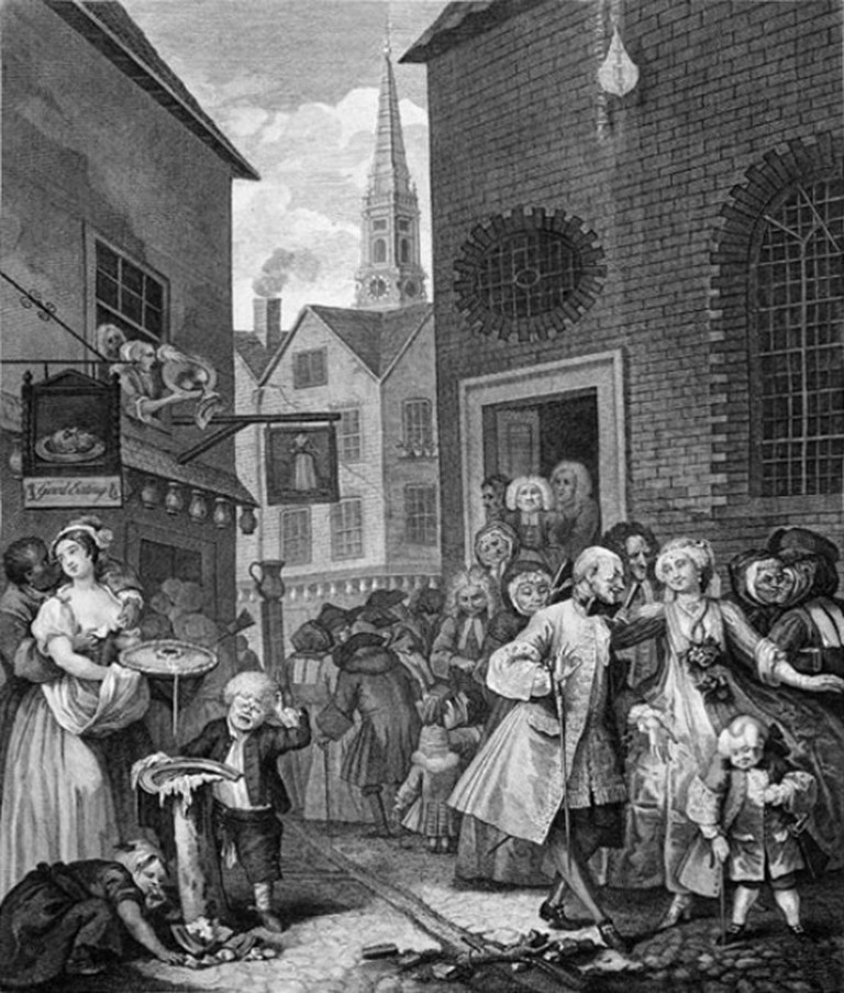 Hogarth, Four Times of the Day: Noon, 473 x 382 mm, British Museum, 1738 | © Cobaltcigs/WikiCommons