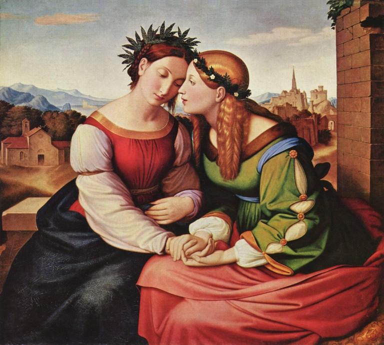 Overbeck's Italia and Germania via Wikimedia