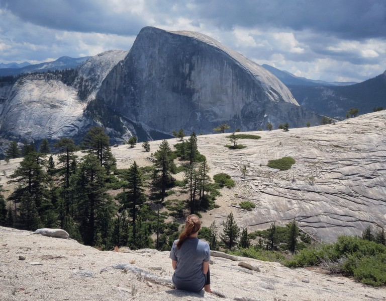 Looking at North Dome and Half Dome | © Addie Gottwald