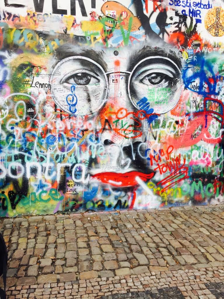 John Lennon wall Courtesy of Molly Winik