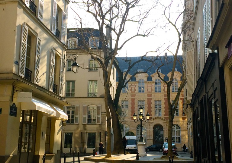 View of Abbey Palace from Place de Furstenberg © Hattie Ditton