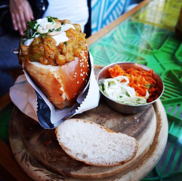 South African Bunny Chow in the Shuk | curiousfoodi/Instagram