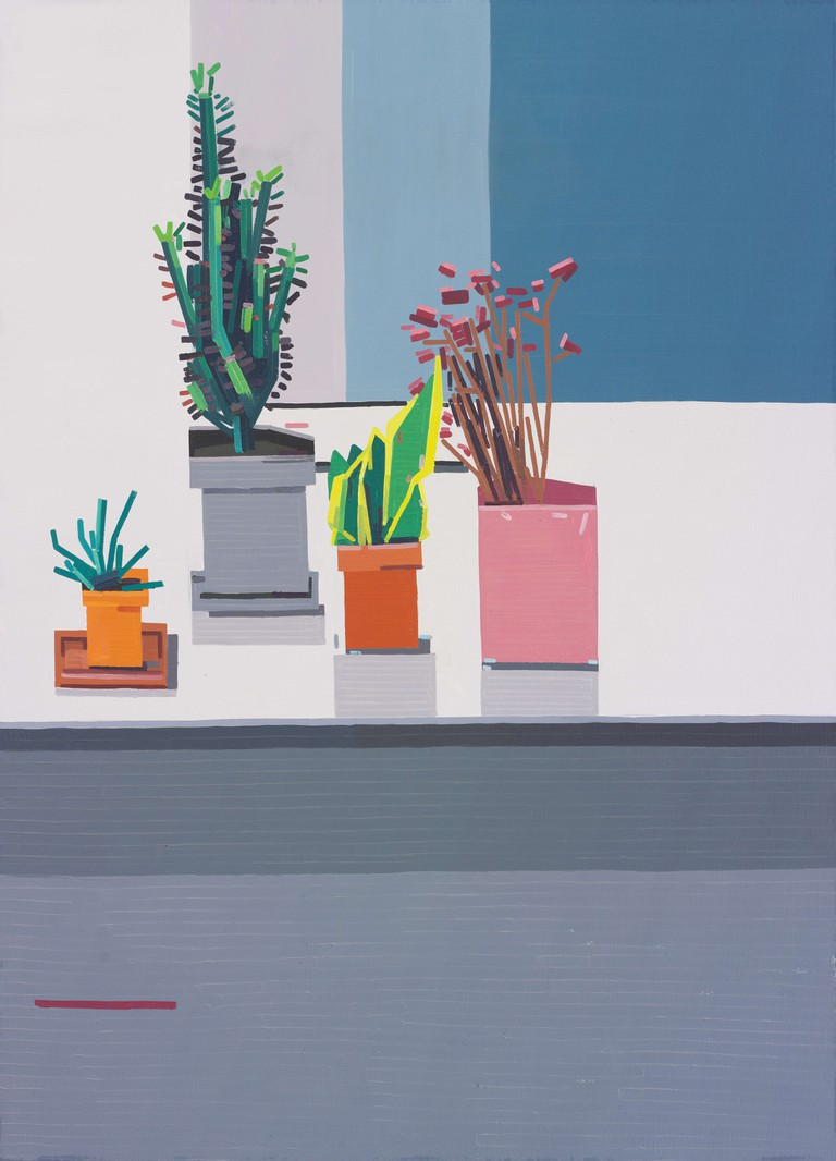 Kitchen, 2015, oil on linen, 148x120 cm