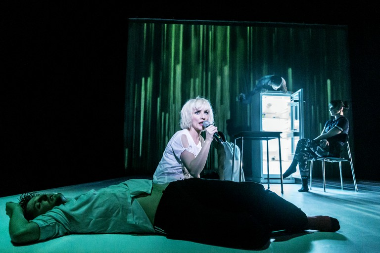 IF YOU KISS ME, KISS ME by Horrocks, , Conceived by Jane Horrocks and Aletta Collins, Director - Aletta Collins, Design - Bunny Christie, The Young Vic, London, 2016, Credit: Johan Persson/