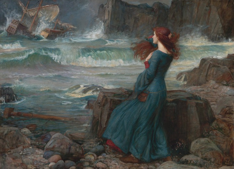 Miranda - The tempest *oil on canvas *100.4 x 137.8 cm *signed b.r.: J.W. Waterhouse / 1916