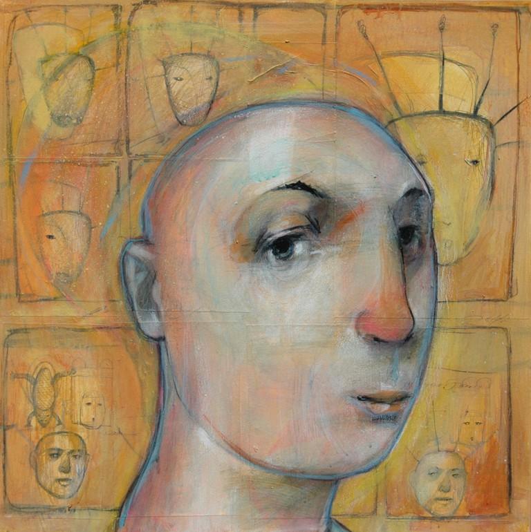 'My Imagined Beautiful Aunt', 2016, Mixed-Media on Canvas, 24x24 | Courtesy of Patrick Palmer