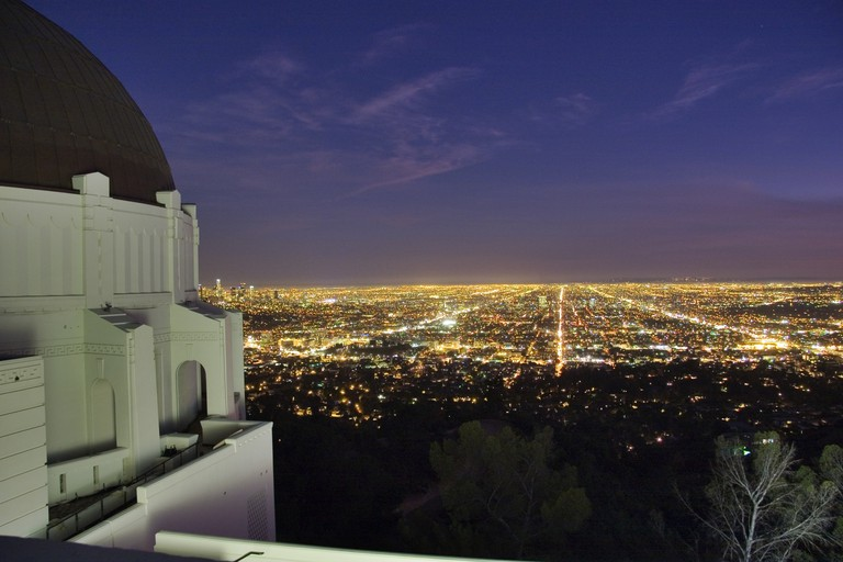 View from the top of the Griffith Observatory   Courtesy of the Griffith Observatory