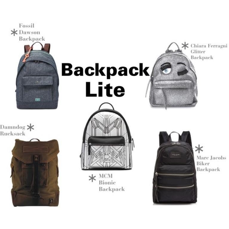Backpacks by Fossil, Damndog, Chiara Ferragni, Marc Jacobs and MCM © Amanda Walker-Storey
