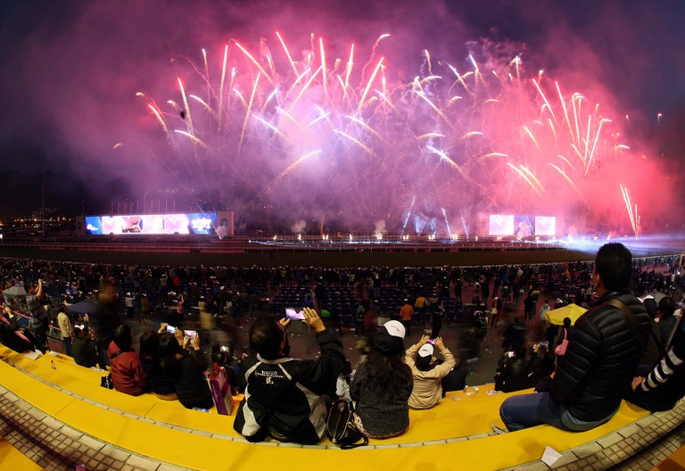 Fireworks display at the Hong Kong International Races | Courtesy of HKJC