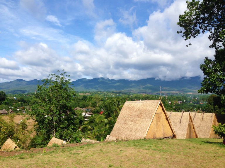 Wooden huts in natural environment, Pai, Northern Thailand