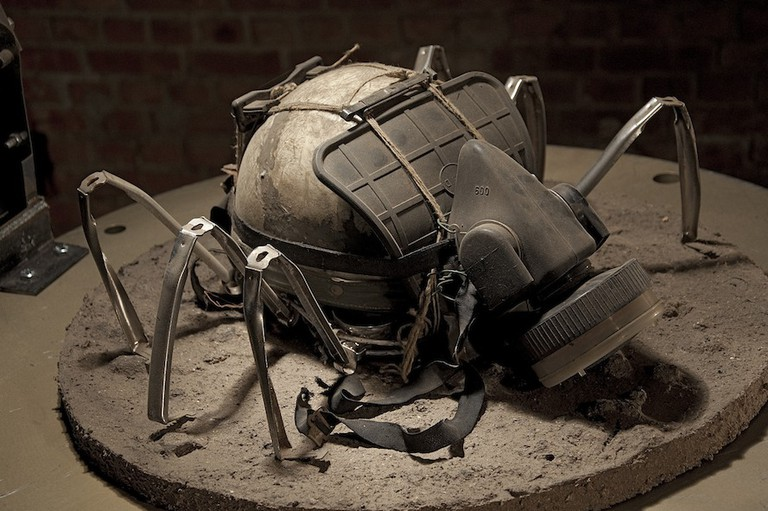 Sculpture by Bart Dewolf at Exit Expo Haacht/Courtesy Johan Van Lommel