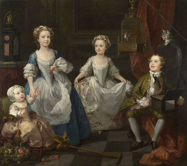 Hogarth, The Graham Children, 160.5 x 181 cm, The National Gallery, 1742 | © Philafrenzy/WikiCommons