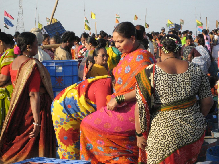 The famous Koli fisherwomen in their colourful attire ©Flickr/Madhav Pai