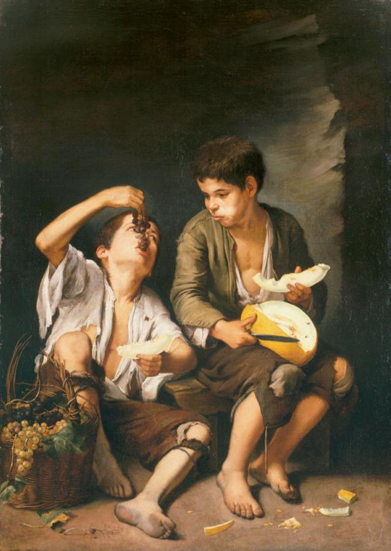 Boys Eating Grapes and Melon © Alte Pinakothek / WikiCommons