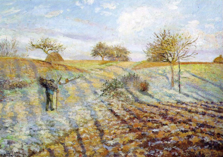 Camille Pissarro, Hoarfrost, 1873 | © Musée d'Orsay/WikiCommons