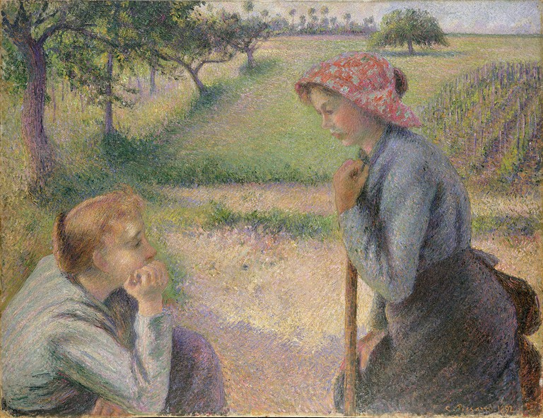 Camille Pissarro, Two Young Peasant Women, 1891-92 | © Metropolitan Museum of Art/WikiCommons