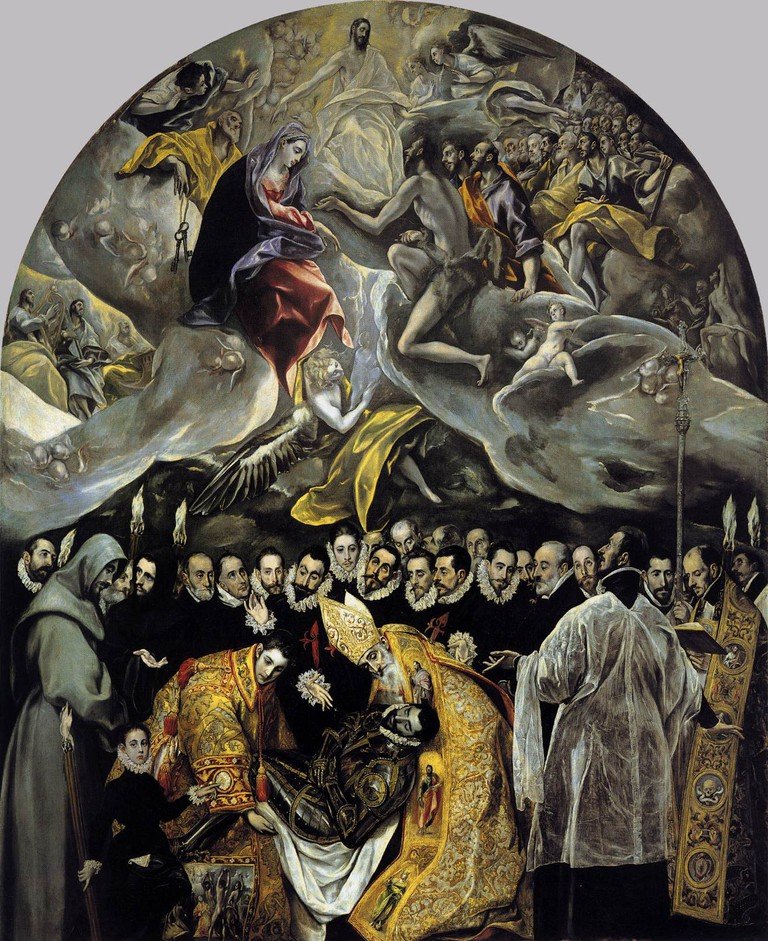 El Greco, The Burial of the Count of Orgaz, 1586-88 | © Iglesia de Santo Tomé/WikiCommons