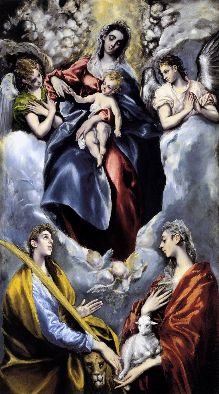 El Greco, Madonna and Child with Saint Martina and Saint Agnes, 1579-99 | © National Gallery of Art/Wikicommons