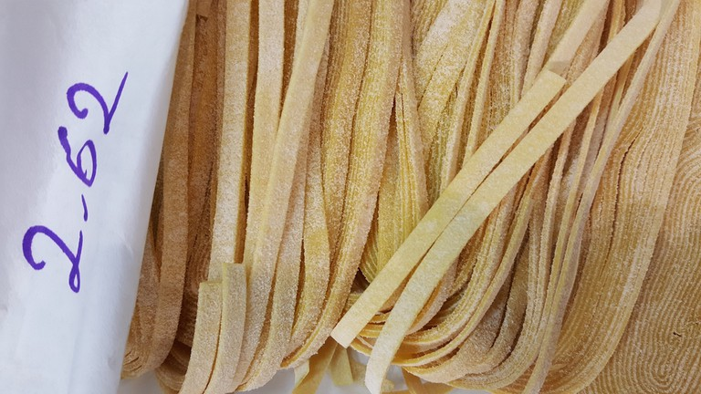 Fresh cut pasta