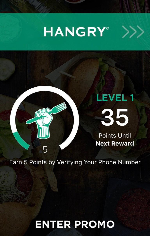 Screenshot of Hangry App