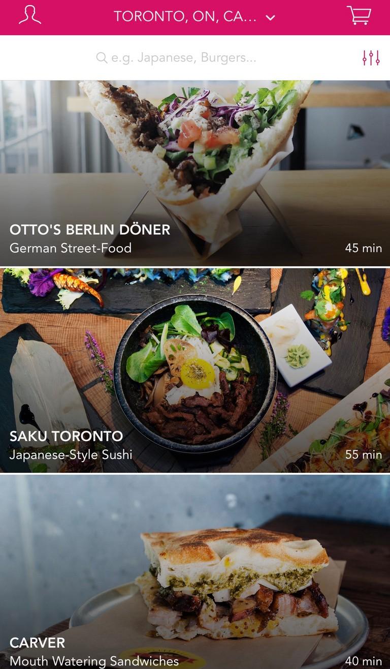 Screenshot of Foodora App
