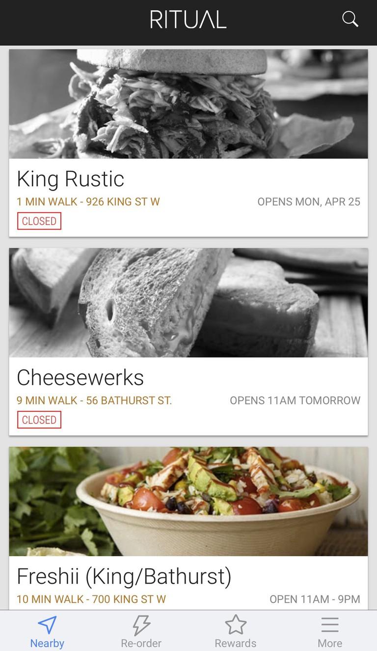 Screenshot of Ritual App