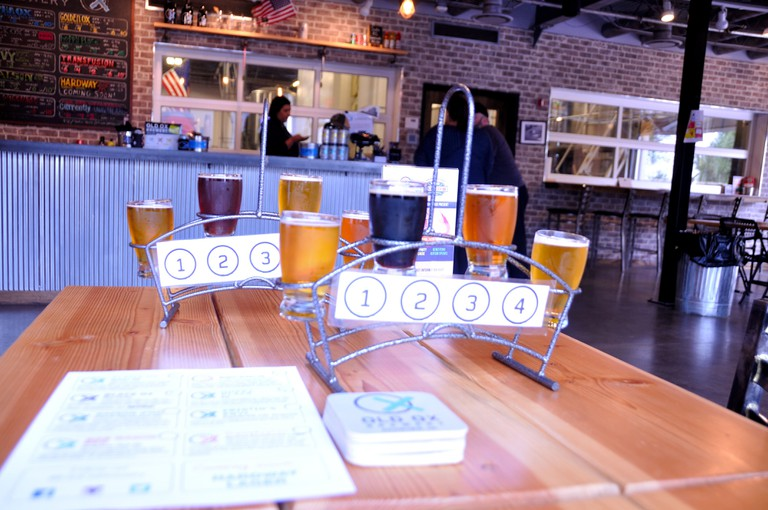 Tasting Flight at Old Ox Brewery