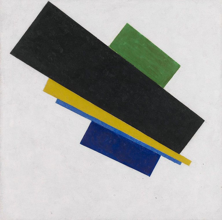 Kazimir Malevich, Suprematism, 18th Construction, 53.3 x 53.3 cm, Private Collection, 1915 | © Sasha Krotov/WikiCommons