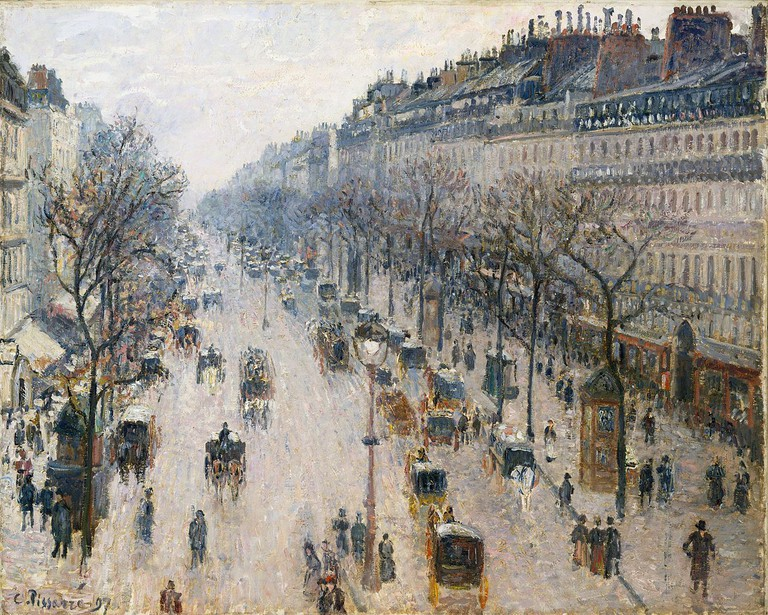 Camille Pissarro, The Boulevard Montmartre on a Winter Morning, 1897 | © Metropolitan Museum of Art/WikiCommons